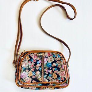 Valentina Genuine leather floral crossbody bag